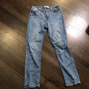 CAbi High Rise Straight Jeans 8 EUC